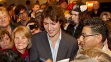 Liberal Party leadership candidate Justin Trudeau (Peter Power/The Globe and Mail)