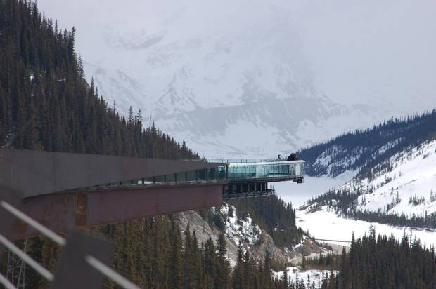 The Glacier Skywalk offers stunning views.