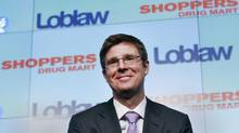 Executive chairman of Loblaw Cos. Ltd. Galen G. Weston speaks at a news conference in Toronto, July 15, 2013. Loblaw, Canada's largest food retailer, will buy Shoppers Drug Mart for $12.4-billion. (MARK BLINCH/REUTERS)