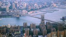 Aerial view of Brooklyn Bridge in New York City (www.jupiterimages.com)