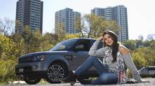Actress Lisa Ray's Range Rover is the perfect size for on-the-fly costume changes. (Tim Fraser for The Globe and Mail)