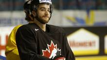 Canada's T J Brodie attends a training session at the Hovet Arena in Sweden's capital Stockholm May 8, 2013. Canada will face Sweden in a preliminary round match at the 2013 IIHF Ice Hockey World Championship at Stockholm's Globe Arena on Thursday. (ARND WIEGMANN/REUTERS)
