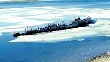 The wreckage of Roald Amundsen's ship Maud is shown in June 1998, in Cambrige Bay, Victoria Island. Norwegian history buffs are trying one more time to lift a ship that once carried legendary northern explorer Roald Amundsen from her cold berth in the Canadian Arctic.They want to bring the fabled ship Maud back to the waters of Norway from where she first set sail. (Ansgar Walk/The Canadian Press/Ansgar Walk/The Canadian Press)