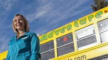 Debbie Brown, owner of Adventure Bus Inc., is having trouble raising money to keep her bus going. (John Ulan For The Globe and Mail)