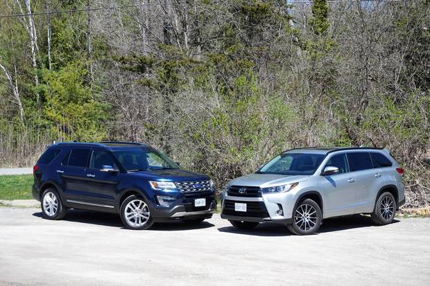 2017 Toyota Highlander And Ford Explorer