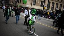 The St. Patricks's Day parade will feature dancers, music and merriment. (Rafal Gerszak For The Globe and Mail)