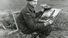 Bruno Bobak enlisted in the Canadian Army during the war and was made an official war artist in 1944.