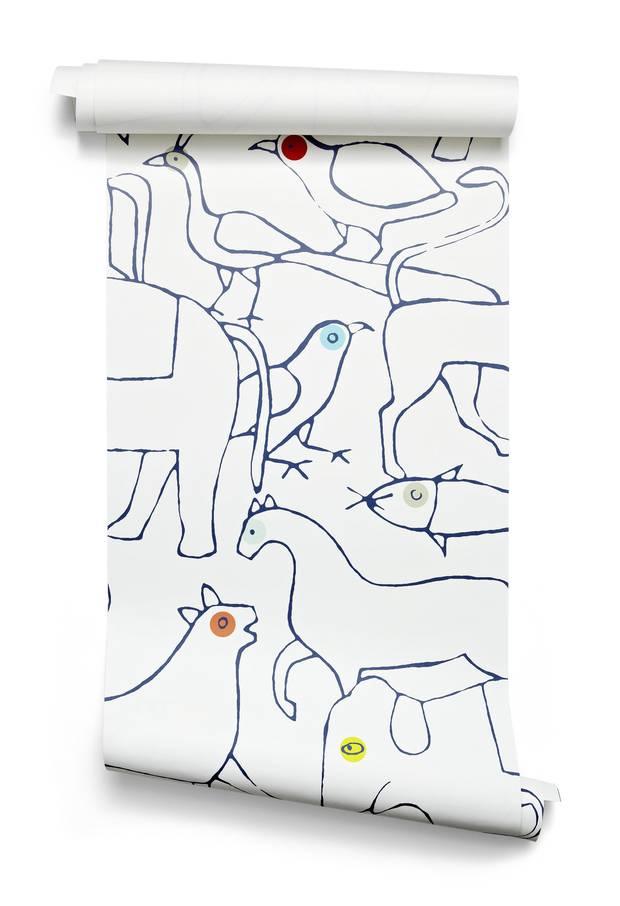 Animals wallpaper by Minakani, starting at €245.83 at Bien Fait Paris (www.bien-fait-paris.com).