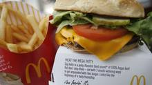 A McDonald's product is pictured in a restaurant in Washington. (MOLLY RILEY/REUTERS/MOLLY RILEY/REUTERS)