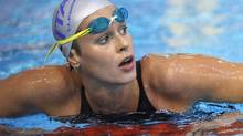 Italy's Federica Pellegrini is seen after her 200 meter Freestyle semifinal at the European Swimming Championships in Debrecen, Hungary, Friday, May 25, 2012. (Michael Sohn/The Associated Press)