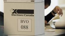 An Elections Canada ballot box is shown on federal election day in Montreal on May 2, 2011. (Graham Hughes/THE CANADIAN PRESS)