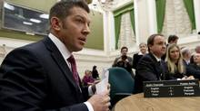 File photo: Former NHL player Sheldon Kennedy appears as a witness at a Commons public safety committee on Bill-C23B: Eliminating pardons for serious crime on Parliament Hill in Ottawa on Wednesday Nov. 24, 2010. THE CANADIAN PRESS/Sean Kilpatrick (Sean Kilpatrick/CP)