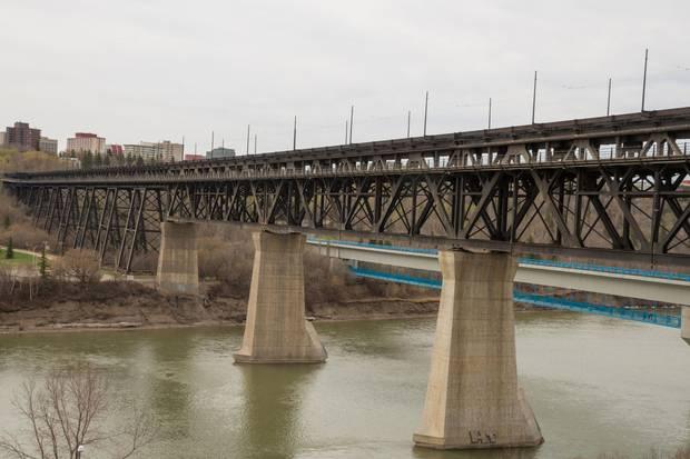 Edmonton's High Level Bridge spans over the North Saskatchewan River.