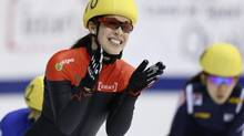 Canada's Valerie Maltais won silver duirng a World Cup speed skating event in Kolomna, Russia on Saturday. (file photo) (CHRISTINNE MUSCHI/REUTERS)