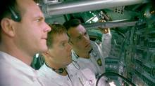 Bill Paxton, Kevin Bacon and Tom Hanks, star as the crew of Apollo 13, based on one of the most compelling chapters in the history of space exploration. (HO)