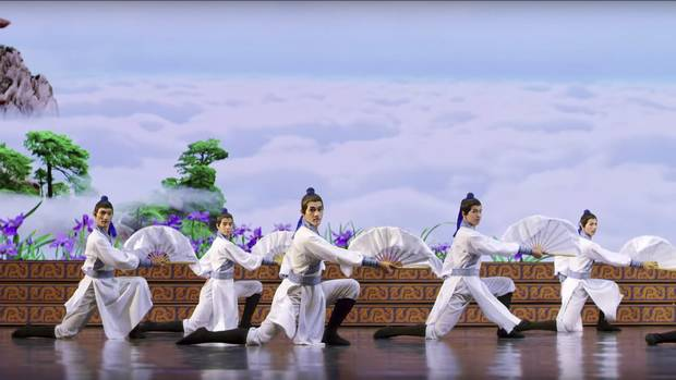 Shen Yun is banned from entering, let alone performing in, China, where it's seen as the direct voice of the outlawed Falun Gong movement and condemned as anti-state propaganda.