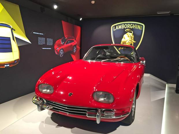 The Museo Ferruccio Lamborghini near Bologna showcases the luxury car manufacturer's most famous production models and prototypes.