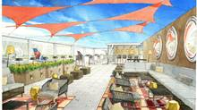 Artist rendering of the new Delta Sky Deck at JFK airport in New York.