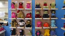 "Monster Factory has exploded since their start in 2003 when they created six original plush characters. Today, the toy company has over 100, each complete with their own story and all-too-real personalities. Mrs. Morley is an elderly character that ""delights in knitting sweaters for her boys,"" and Dave sports a blank expression alongside tube socks and ""takes things a little too seriously."""