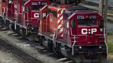 A CP Rail locomotive sits at the company's Port Coquitlam yard east of Vancouver in this file photo. (DARRYL DYCK/THE CANADIAN PRESS)