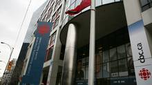 The exterior of CBC on Front St. in downtown Toronto. (Charla Jones/The Globe and Mail)