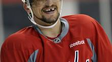 Washington Capitals' Alex Ovechkin will be one of six players to try Bauer's new OD1N hockey equipment. (file photo) (Susan Walsh/AP)