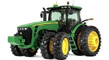 "Agricultural and construction equipment maker Deere is a $30-billion firm has been battling headwinds since the ""Great Recession"" reared its ugly head and pulled the rug out from under the construction side of its business. But the pain inflicted wasn't as bad as many investors initially thought – and rising commodity prices have helped the firm roll plenty of its signature green and yellow tractors off of its factory lines. (John Deere)"