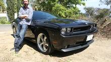 Funnyman Tom Green thinks his 2010 Dodge Challenger is 'a cool-looking car.'