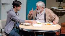 "Aidan deSalaiz(left) and Theodore Bikel in ""Visiting Mr. Green"" (Racheal McCaig)"