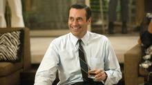 Jon Hamm's whisky-drinking Mad Men character, Don Draper, goes through a lot of Canadian Club in a season. Distiller Beam Inc. is cashing in on the show's popularity by launching a retro-focused ad campaign. (Ron Jaffe/AP/Ron Jaffe/AP)
