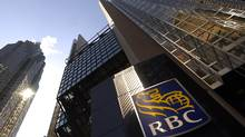 Exterior of the Royal Bank Plaza towers at the corner of Bay St. and Wellington St. West in Toronto on April 17 2014. Investors will get a first look at earnings results when Royal Bank of Canada reports earnings on Friday. (Fred Lum/The Globe and Mail)