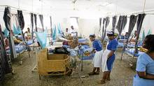 Images from the Princess Christian Maternity Hospital in Freetown, Sierra Leone, where a free healthcare program for expecting and new mothers is being run by UNICEF. (Peter Power/The Globe and Mail/Peter Power/The Globe and Mail)