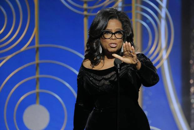 Oprah Winfrey accepts the Cecil B. DeMille Award during the 75th annual Golden Globe Awards on Jan. 7, 2018.