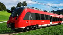 Bombardier commuter train. (Handout)