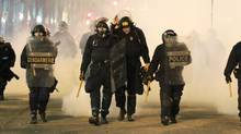 Riot police in Vancouver June 15, 2011. (John Lehmann/The Globe and Mail/John Lehmann/The Globe and Mail)