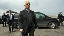 NDP Leader Jack Layton heads to his campaign plane in Winnipeg on April 27, 2011. (Andrew Vaughan/THE CANADIAN PRESS)