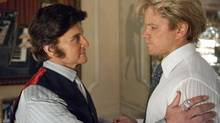 Michael Douglas (left) as Liberace, and Matt Damon as his young lover Scott Thorson in a scene from Behind the Candelabra, premieres May 26 on HBO. (Claudette Barius/AP)