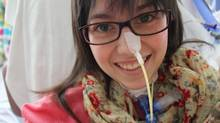 Hélène Campbell, a double-lung transplant recipient and online organ donation crusader in a photo from April 18, 2012. (THE CANADIAN PRESS)