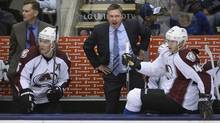 Patrick Roy, the coach for the Colorado Avalanche photographed during second period action against the Toronto Maple Leafs at the Air Canada centre on Oct 8 2013. (Fred Lum/The Globe and Mail)