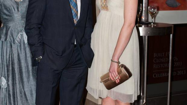 Jason Priestley with Natasha Mytnowych at Canadian Stage's 25th anniversary at the Carlu. (Stefania Yarhi)