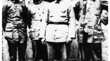 Shown in a file photo taken sometime between 1934 and 1936 at their base in the Shaanxi province, China are, from right, Mao Zedong, Chu Teh, Chou En-Laiand Qin Bangxia. During the Long March the Red Army trudged 12,500 kilometers of treacherous terrain seeking a safe haven to regather under the command of revolutionary leader Mao. (AP/Xinhua)