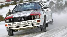 Frank Sprongl demonstrates what his 983 Audi S1 Sport quattro can do. (Audi)