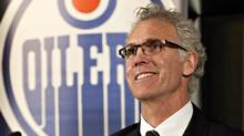 Craig MacTavish speaks at a press conference after he was announced as the new general manager of the Edmonton Oilers, replacing Steve Tambellini, in Edmonton, Alta., on Monday, April 15, 2013. (JASON FRANSON/THE CANADIAN PRESS)