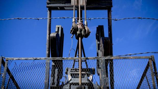 A pump jack on land south of Calgary, whose owner fears the well will soon be considered orphaned.