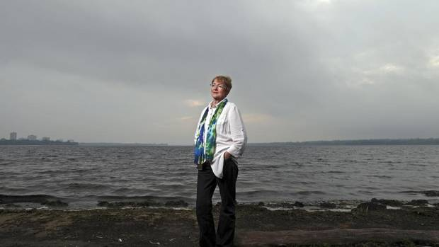 Maude Barlow, by the Ottawa River, will see the third of her trilogy of books about water published next month. (Dave Chan for the globe and mail)