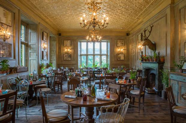 One of the restaurants at The Pig at Combe.