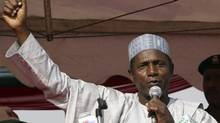 Umaru Yar' Adua addresses a rally in Abuja in this March 29, 2007 file photo. (AFOLABI SOTUNDE/REUTERS/Afolabi Sotunde/Files)