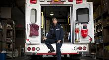 Unit chief Marilyn Oberg, who works out of a busy ambulance station near Vancouver General Hospital, has been a paramedic for 25 years. (RAFAL GERSZAK FOR THE GLOBE AND MAIL)