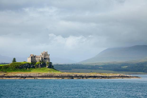 Duart Castle on the Isle of Mull in Scotland.
