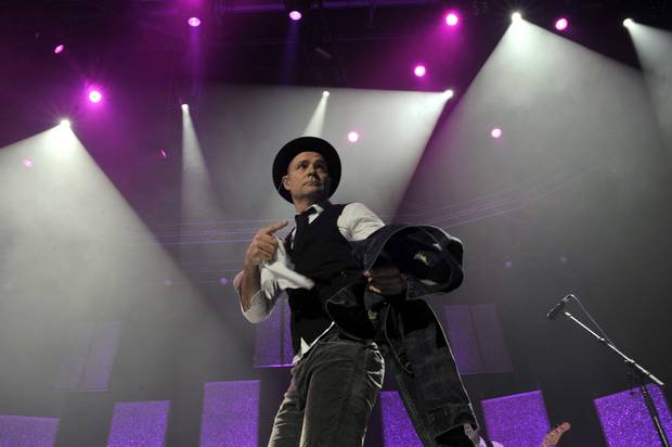 Gord Downie of The Tragically Hip, performing at the Air Canada Centre on Feb. 14, 2013.